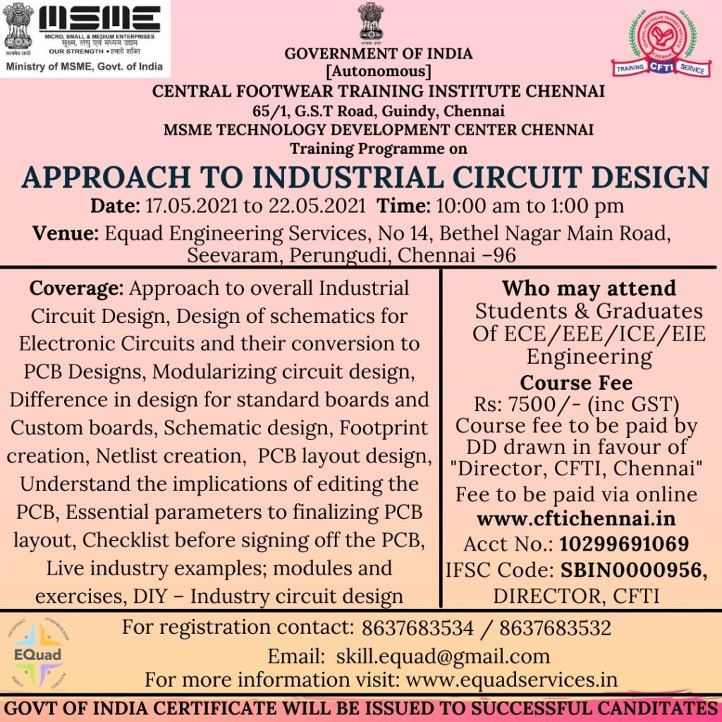 Industrial Circuit Design for Freshers